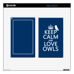 Amazon Kindle DX Skin with Keep Calm and Love Owls design