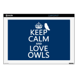17' Laptop Skin for Mac & PC with Keep Calm and Love Owls design
