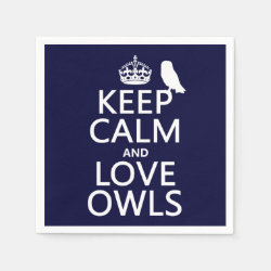 Paper Napkins with Keep Calm and Love Owls design