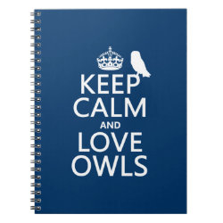 Photo Notebook (6.5' x 8.75', 80 Pages B&W) with Keep Calm and Love Owls design