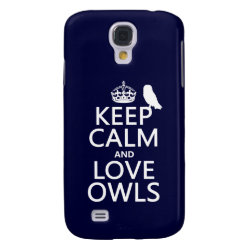 Keep Calm and Love Owls Case-Mate Barely There Samsung Galaxy S4 Case