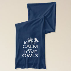 Jersey Scarf with Keep Calm and Love Owls design