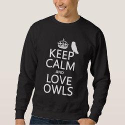 Men's Basic Sweatshirt with Keep Calm and Love Owls design