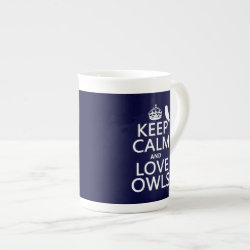 Keep Calm and Love Owls Bone China Mug