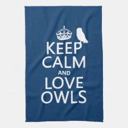 Kitchen Towel 16' x 24' with Keep Calm and Love Owls design