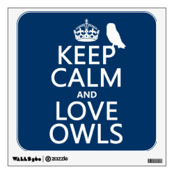 Walls 360 Custom Wall Decal with Keep Calm and Love Owls design