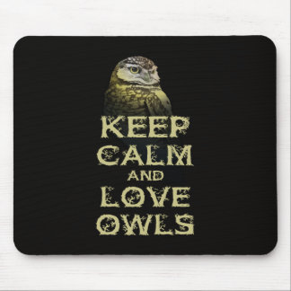 Keep Calm and Love Owls Original Owl Gift Stuff Mouse Pad