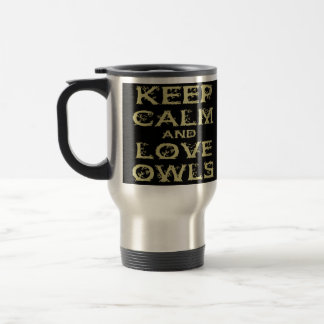 Keep Calm and Love Owls Original Owl Gift Stuff Coffee Mugs