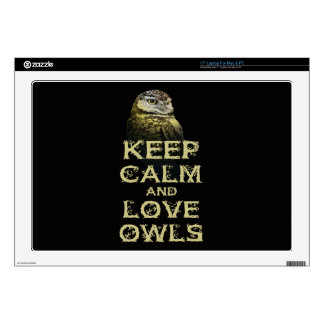 Keep Calm and Love Owls Original Owl Gift Stuff Decals For Laptops
