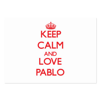 Keep Calm and Love Pablo Large Business Cards (Pack Of 100)