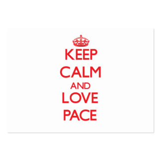 Keep calm and love Pace Business Card