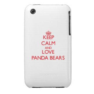 Keep calm and love Panda Bears iPhone 3 Case-Mate Case