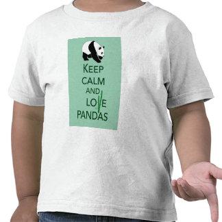 Keep Calm and Love Pandas Art Print Gifts T Shirts