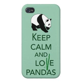Keep Calm and Love Pandas Gift Art Print iPhone 4/4S Case