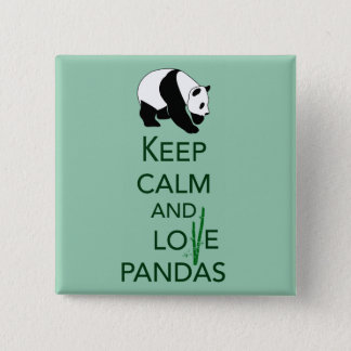 Keep Calm and Love Pandas Gift Art Print Pinback Button