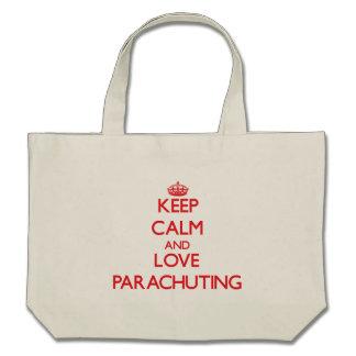 Keep calm and love Parachuting Canvas Bags