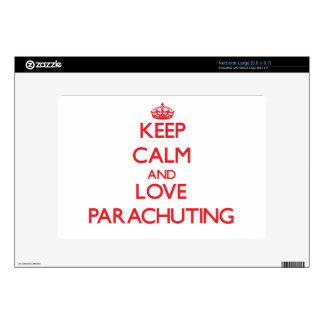 Keep calm and love Parachuting Netbook Decal