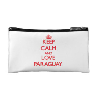 Keep Calm and Love Paraguay Cosmetics Bags