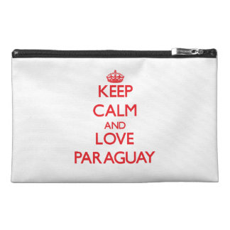 Keep Calm and Love Paraguay Travel Accessories Bag