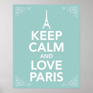 Keep Calm and Love Paris Poster