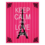 Keep Calm and Love Paris Poster