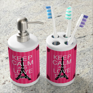 Keep Calm and Love Paris Toothbrush Holder