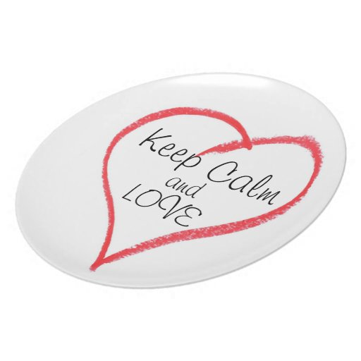 Keep Calm and LOVE Party Plate