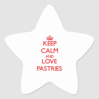 Keep calm and love Pastries Sticker