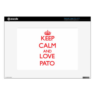 Keep calm and love Pato Netbook Skin