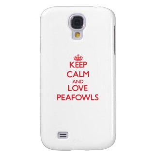 Keep calm and love Peafowls Samsung Galaxy S4 Case