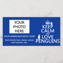Keep Calm and Love Penguins (any color) Announcement