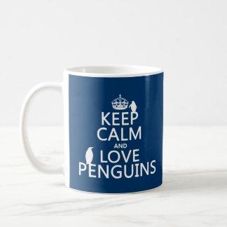 Keep Calm and Love Penguins (any color) Coffee Mug