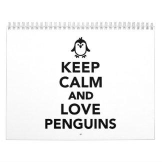 Keep calm and love Penguins Calendar