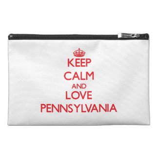 Keep Calm and Love Pennsylvania Travel Accessory Bag