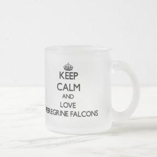 Keep calm and Love Peregrine Falcons Mugs