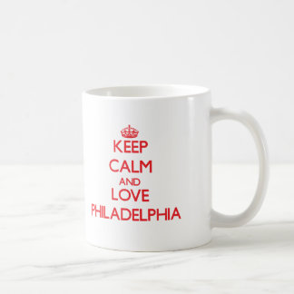 Keep Calm and Love Philadelphia Classic White Coffee Mug