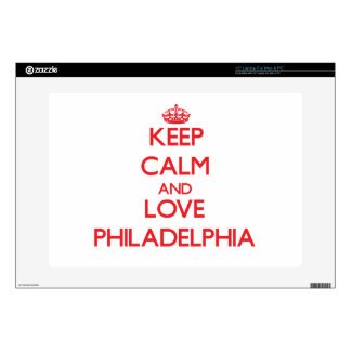 Keep Calm and Love Philadelphia Decals For Laptops