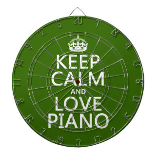 Keep Calm and Love Piano (any background color) Dartboard With Darts