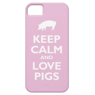Keep Calm and Love Pigs (light pink) iPhone 5 Cover