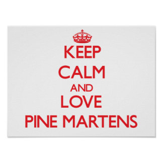 Keep calm and love Pine Martens Posters