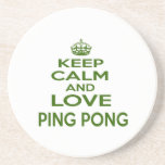 Keep Calm And Love Ping Pong Beverage Coaster