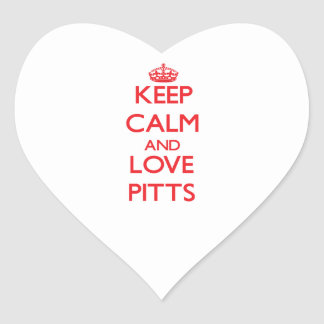 Keep calm and love Pitts Sticker