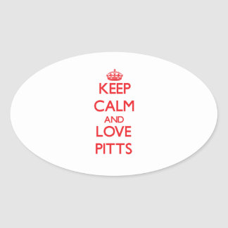 Keep calm and love Pitts Stickers