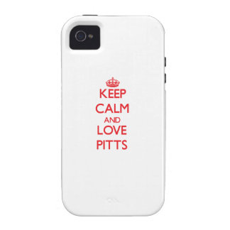 Keep calm and love Pitts Vibe iPhone 4 Covers