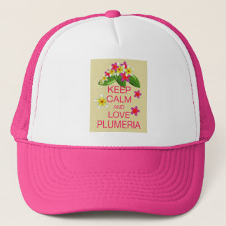 Keep Calm and Love Plumeria Fine Art Design Trucker Hat