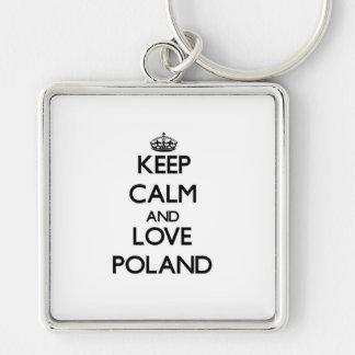 Keep Calm and Love Poland Keychain