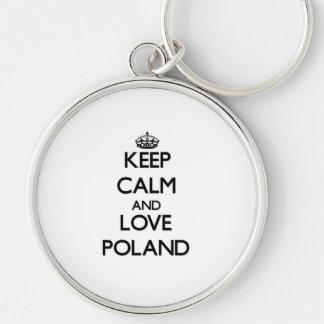 Keep Calm and Love Poland Key Chains