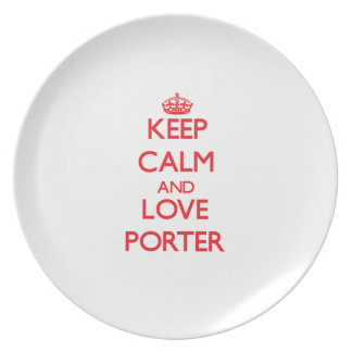 Keep calm and love Porter Party Plates