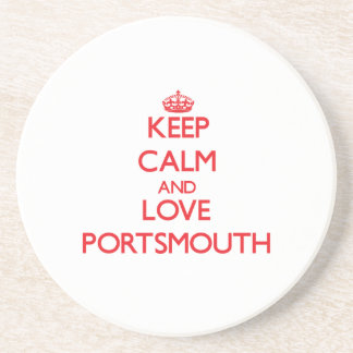 Keep Calm and Love Portsmouth Drink Coaster