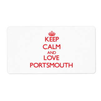 Keep Calm and Love Portsmouth Shipping Label